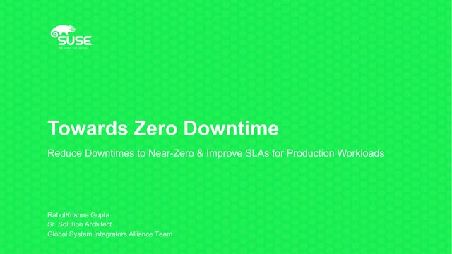 Reduce Downtimes to Near-Zero & Improve SLAs for Production Workloads