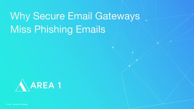 Why Secure Email Gateways Miss Phishing Emails