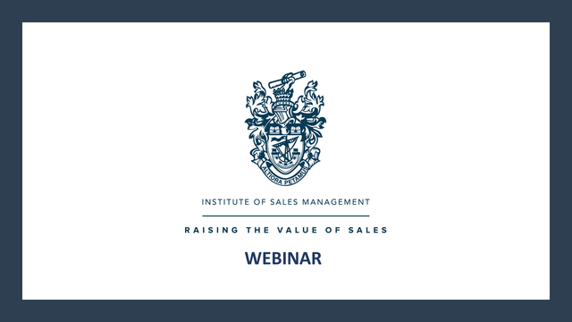 ISM Webinar: Why Your Sales Manager Is Your Biggest Liability