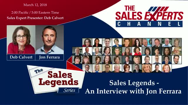 Sales Legends Series - An Interview with Jon Ferrara