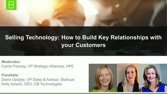 Selling Technology: How to Build Key Relationships with your Customers