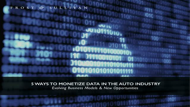 5 Ways To Monetize Data in the Auto Industry
