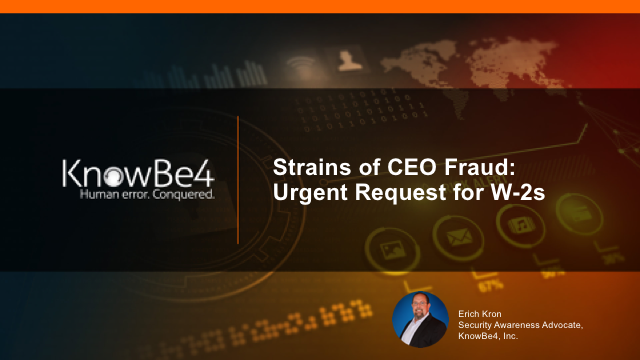 Strains of CEO Fraud: Urgent Request for W-2s - Fireside Chat with TruthInIT