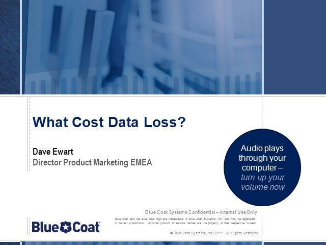 What Cost Data Loss?