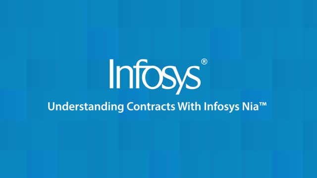 Infosys Nia Use Case: Understanding Contracts