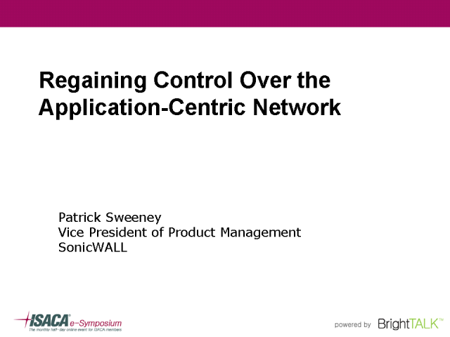 Regaining Control over the Application-Centric Network