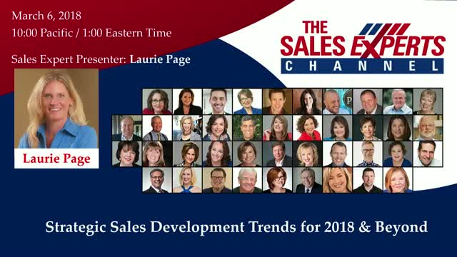 Strategic Sales Development Trends for 2018 & Beyond