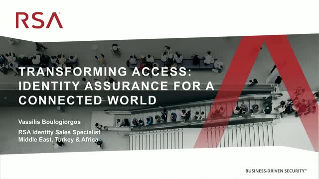 Transforming access: Identity Assurance for a Connected World