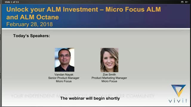 Unlock your ALM Investment – Micro Focus ALM and ALM Octane
