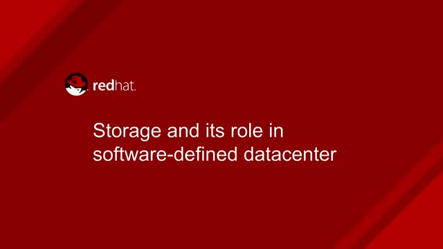 Storage and its role in the software-defined datacenter
