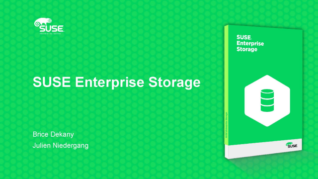 SUSE Enterprise Storage : Software-Defined Storage et GDPR