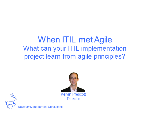 What Can Your ITIL Implementation Project Learn From Agile