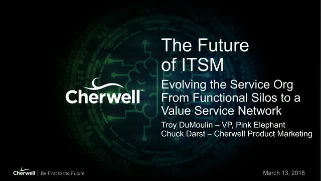 Evolving the IT Service Org From Functional Silos to a Value Service Network