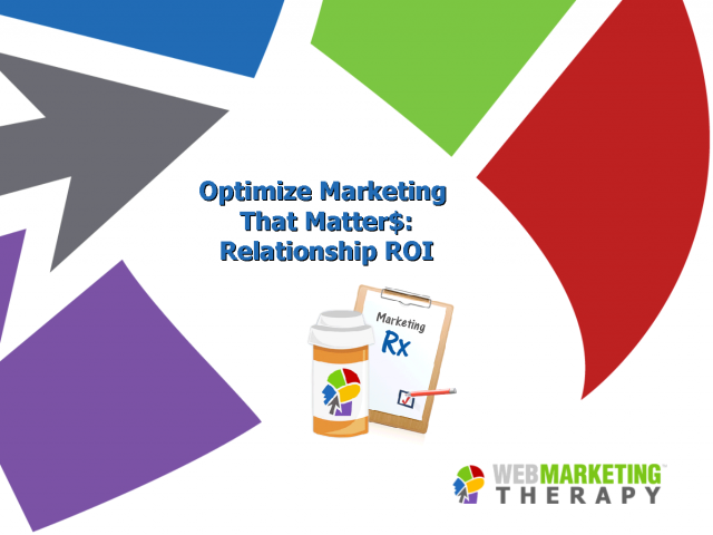 Optimize the Marketing Metric that Matter$ - Relationship ROI