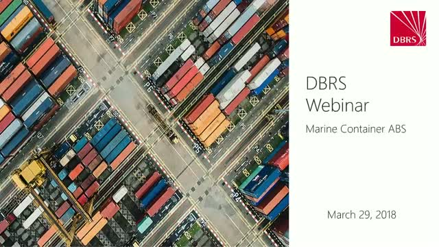 DBRS Hosts Webinar on Marine Container ABS Market
