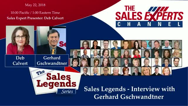 Sales Legends Series - An Interview with Gerhard Gschwandtner