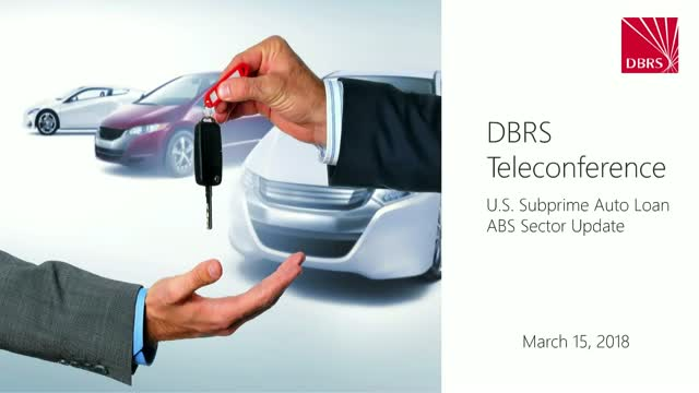 DBRS Hosts Webinar on US Subprime Auto ABS