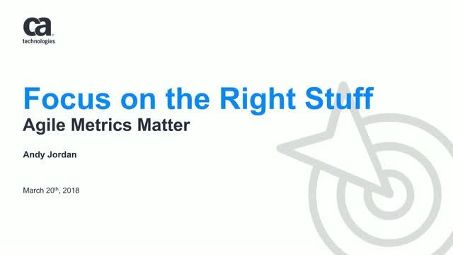 Focus on the Right Stuff – Agile Metrics Matter