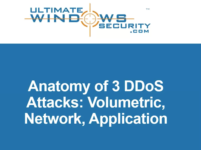 The Anatomy of DDoS - Understanding and Surviving the 3 Most Rampant Attacks