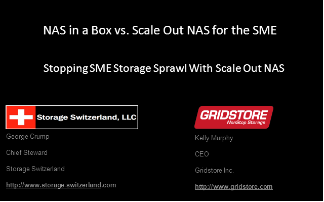NAS in a Box vs. Scale Out NAS for the SME