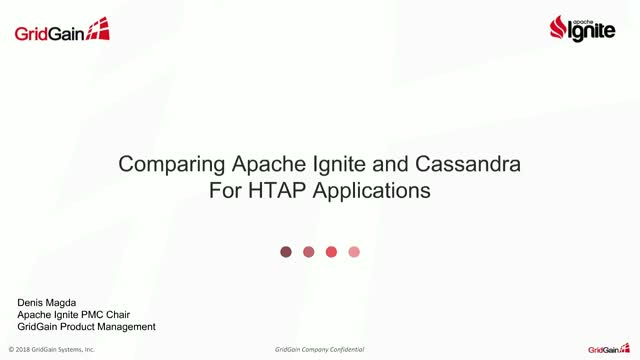 Comparing Apache Ignite & Cassandra for Hybrid Transactional Analytical Apps