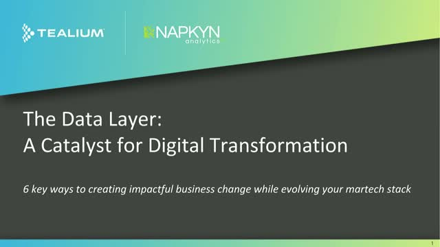 The Data Layer: A Catalyst for Digital Transformation