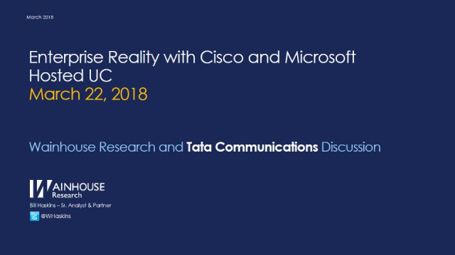 Enterprise reality with Cisco and Microsoft Unified Communications (UC)