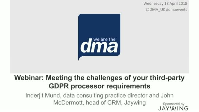Webinar: GDPR - 10 practical steps to prepare you for the new regulation