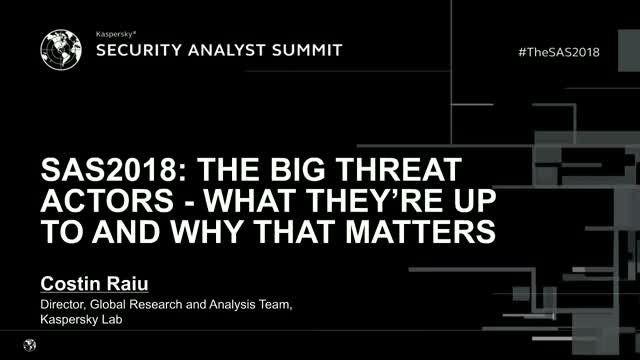 Sophisticated cyberthreats of 2018 – what matters?