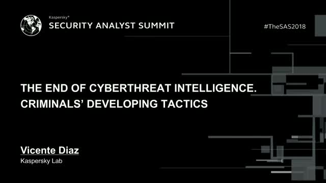 The end of cyber-threat intelligence. Сriminals' developing tactics