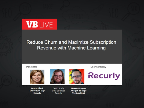 Reduce churn and maximize subscription revenue with machine learning