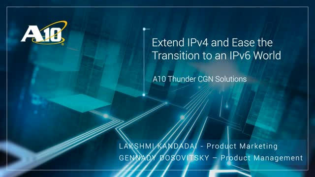 Plan your migration to the IPV6 Standard