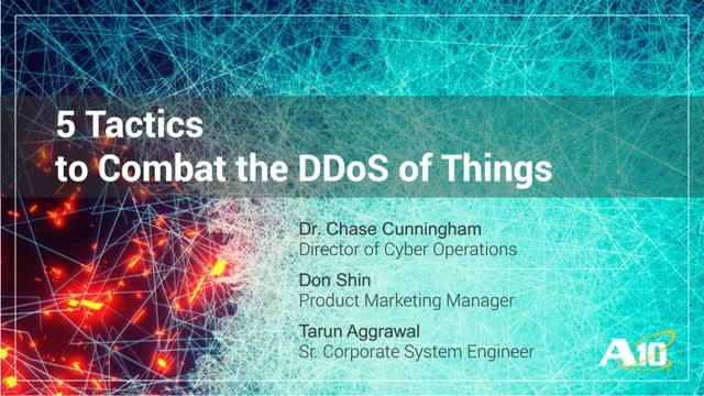 5 Tactics to Combat the DDoS of Things