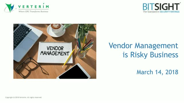 Vendor Management is Risky Business