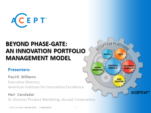 Beyond Phase-Gate: An Innovation Portfolio Management Model