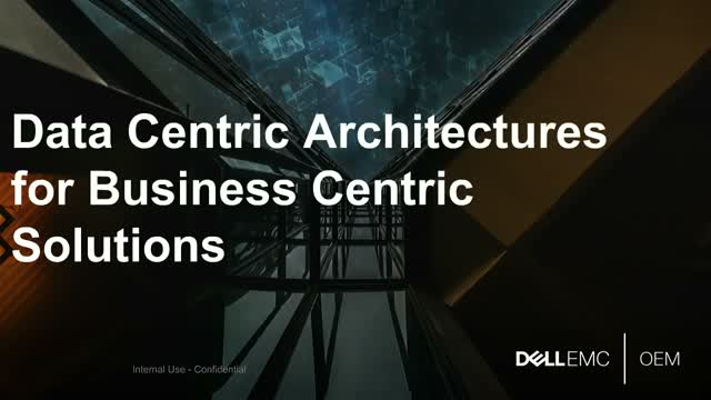Data-centric architectures for business-centric solutions