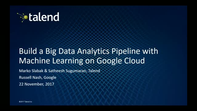 Build a Big Data Analytics Pipeline with Machine Learning on Google Cloud