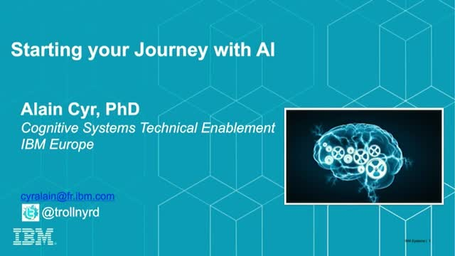 Starting your AI journey
