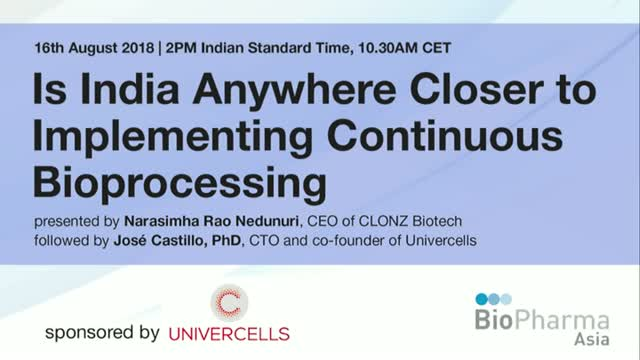 Is India Anywhere Closer to Implementing Continuous Bioprocessing