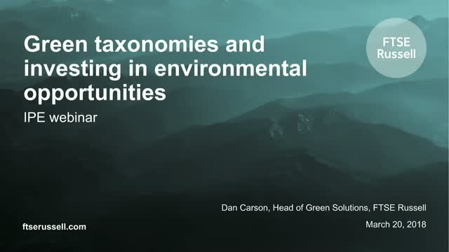 Green Taxonomies and Investing in Environmental Opportunities