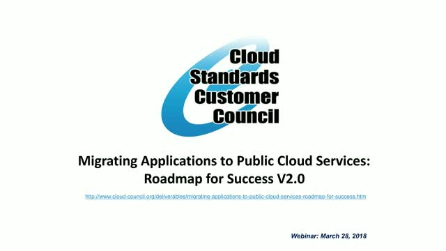 Migrating Applications to Public Cloud Services: Roadmap for Success V2.0