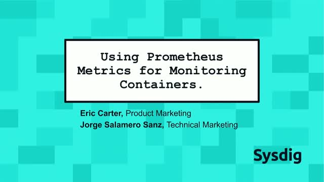 Using Prometheus Metrics for Monitoring Containers