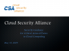 Security Guidance for Critical Areas of Focus in Cloud Computing