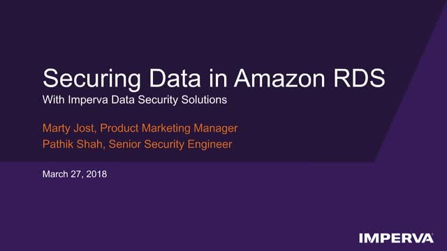 Cloud Data Security: Securing Amazon RDS