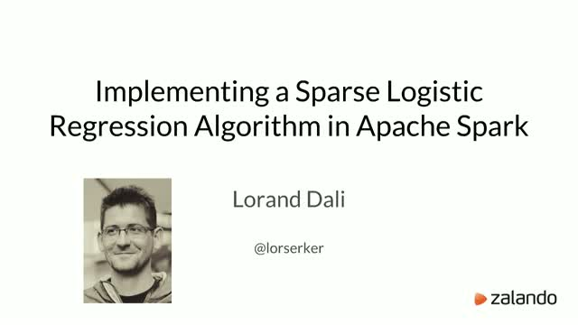 Implementing a Sparse Logistic Regression Algorithm in Apache Spark