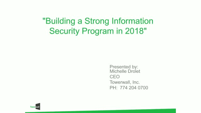 Building a Strong Information Security Program in 2018