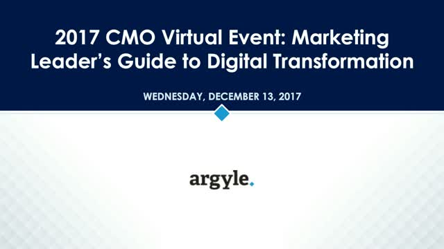 Marketing Leaders Guide to Digital Transformation with Argyle