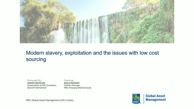 Modern slavery, exploitation and the issues with low cost sourcing