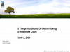 5 Things You Should Do Before Moving E-mail to the Cloud