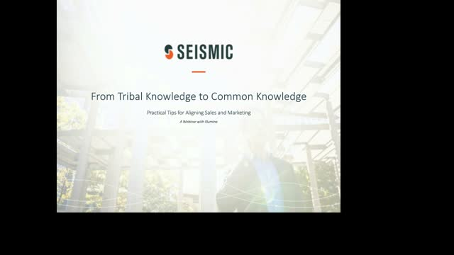 From Tribal Knowledge to Common Knowledge: Practical Tips for Aligning Sales and